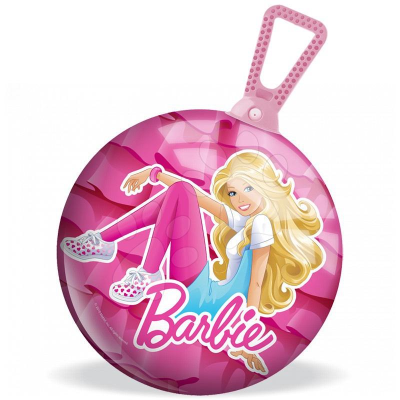 Míč na skákání Kangaroo Barbie Mondo s držákem 45 cm