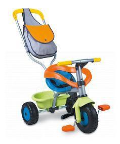 Tříkolky od 10 měsíců - Tříkolka Be Fun Confort Smoby modro-oranžová