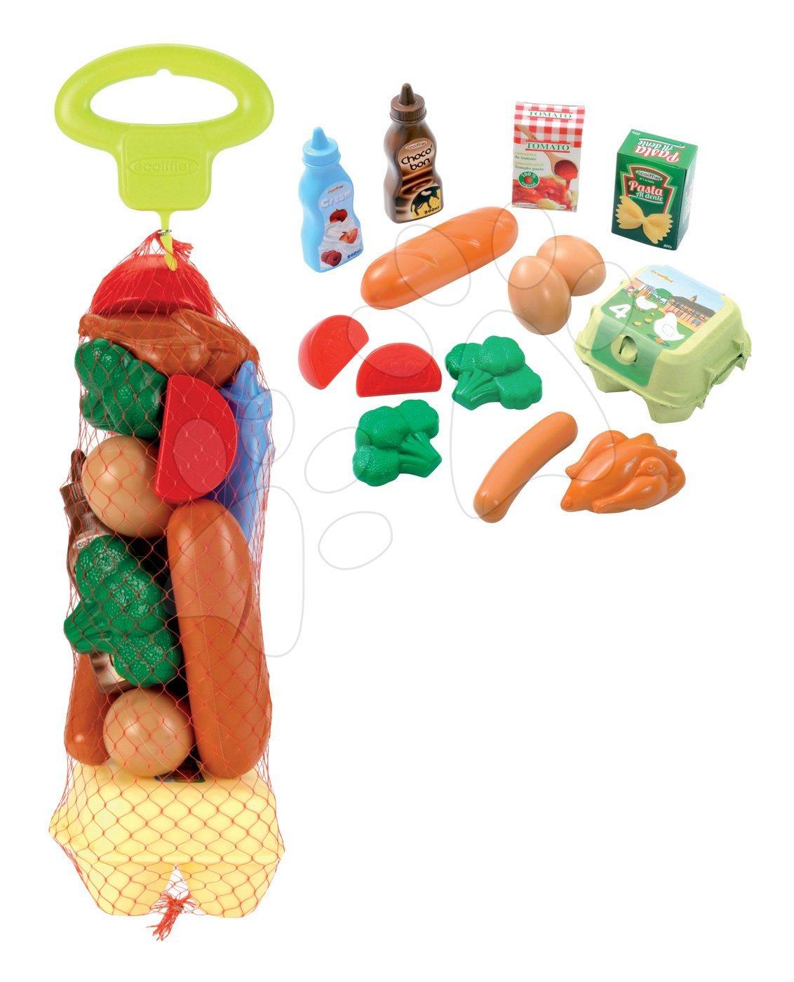 Nádobí a doplňky do kuchyňky - Potraviny do kuchyňky Bubble Cook Écoiffier v síťce od 18 měsíců