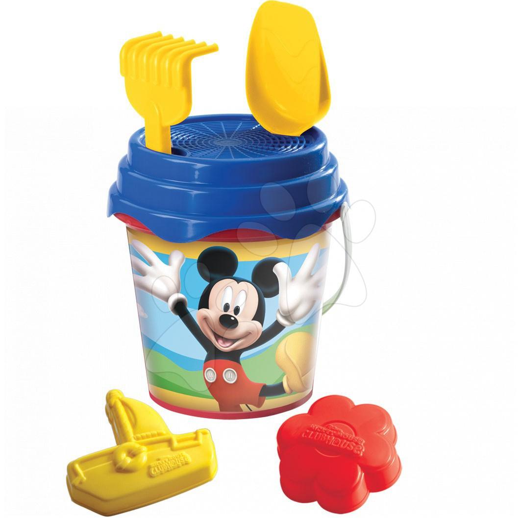 Produse vechi - Set de nisip în găleată Mondo Mickey Mouse 6 bucăţi 17 cm