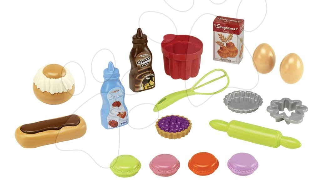Dětské potřeby na pečení Bubble Cook Écoiffier v síťce s 18 doplňky