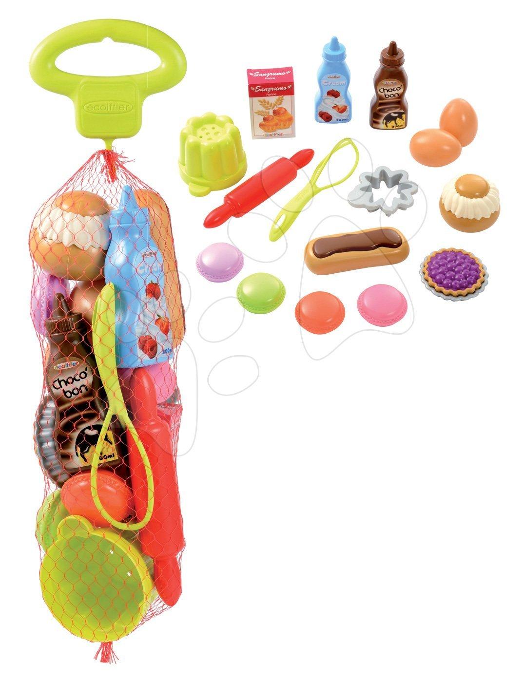 Écoiffier detské kuchynské potreby v sieťke Bubble Cook 952 zeleno-červeno-strieborné