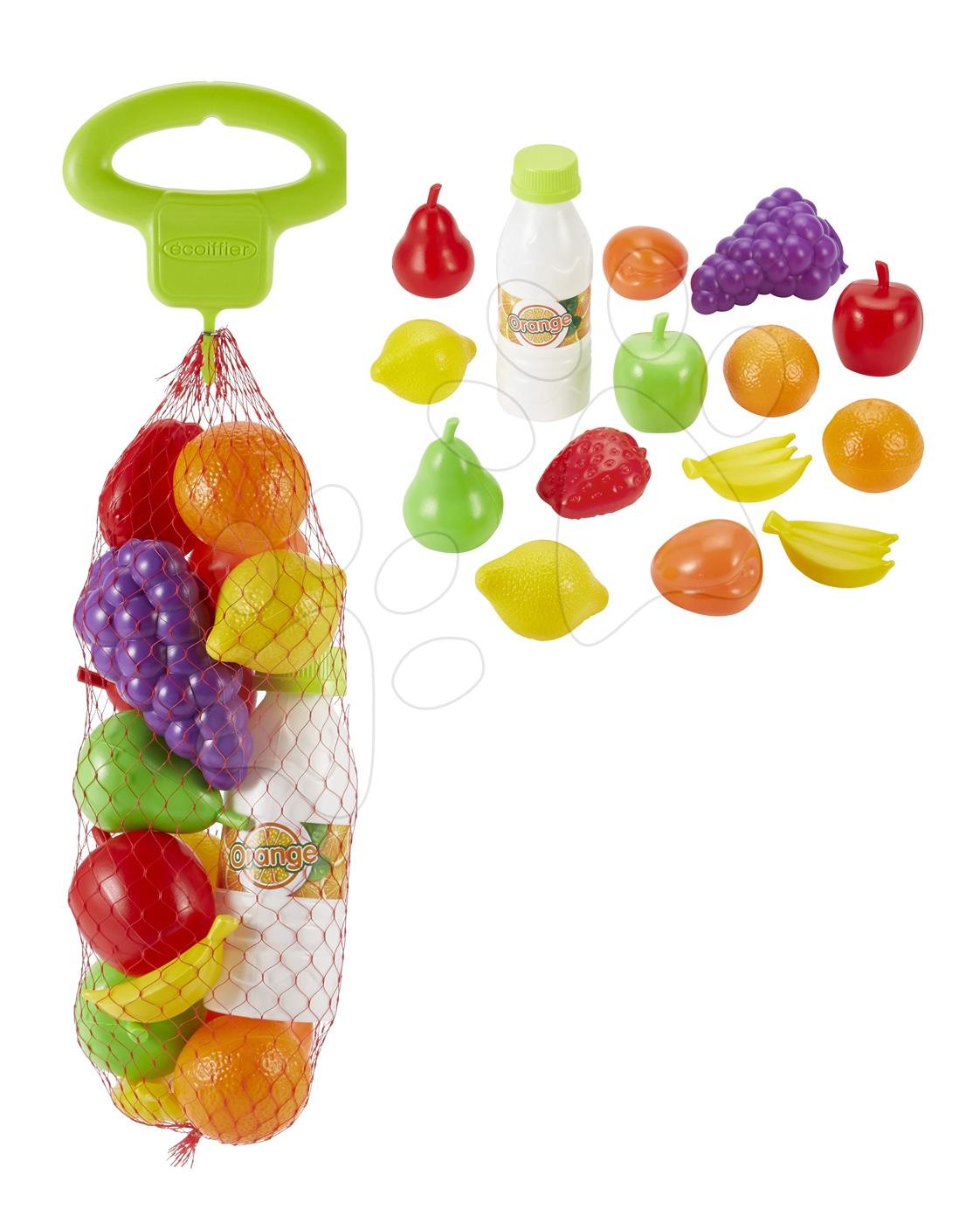 Écoiffier ovoce a zelenina v síťce 15 kusů 954