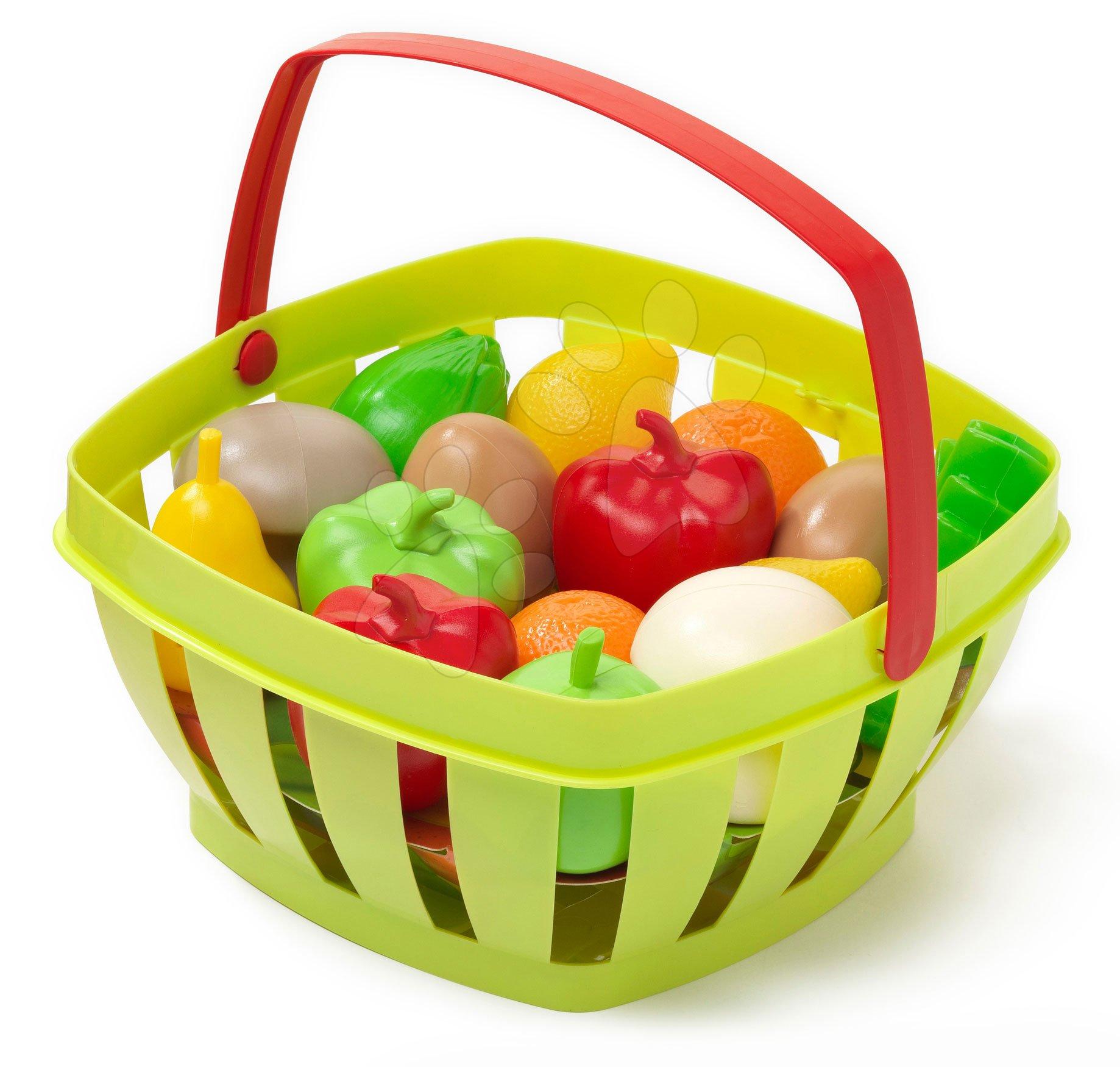 Riadíky a doplnky kuchynky - Košík s ovocím a zeleninou Écoiffier od 24 mes