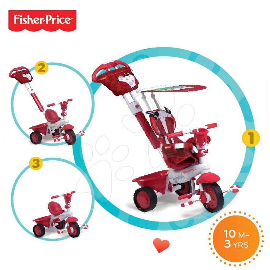 Tříkolka Fisher-Price Royal Red smarTrike od 10 měsíců červená