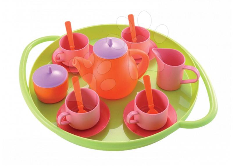 Accesorii și vase de bucătărie de jucărie - Set de ceai Bubble Cook Écoiffier cu 18 accesorii