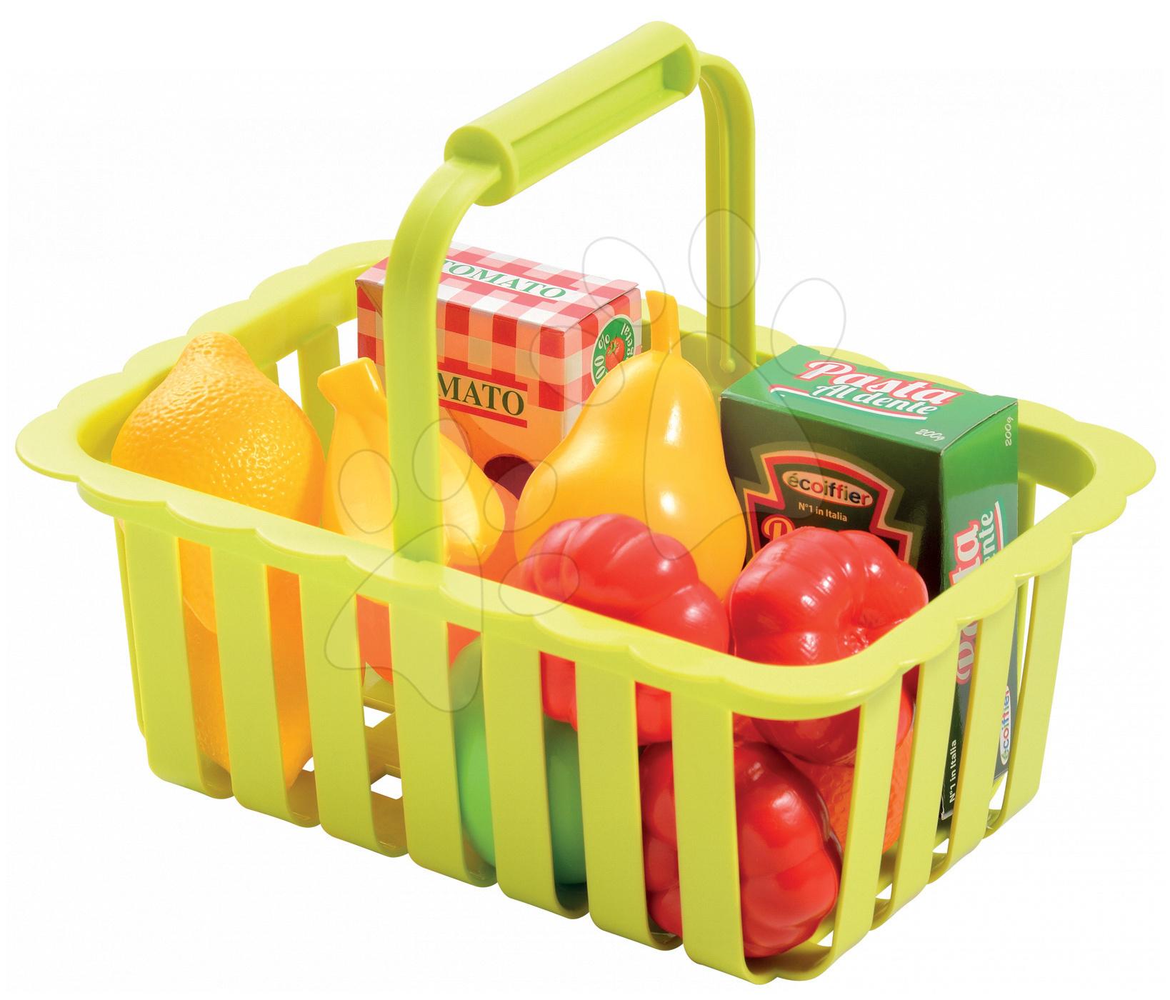 Nádobí a doplňky do kuchyňky - Košík s ovocem a zeleninou Écoiffier malý od 18 měsíců