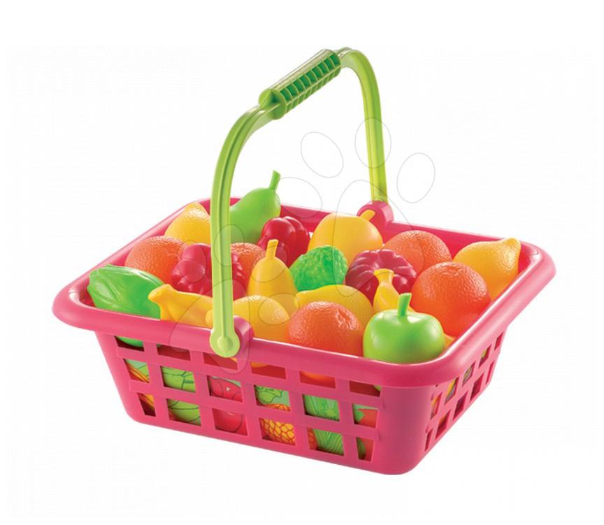 Staré položky - Bubble Cook ovocný košík Écoiffier 12 ks ovoce od 18 měsíců