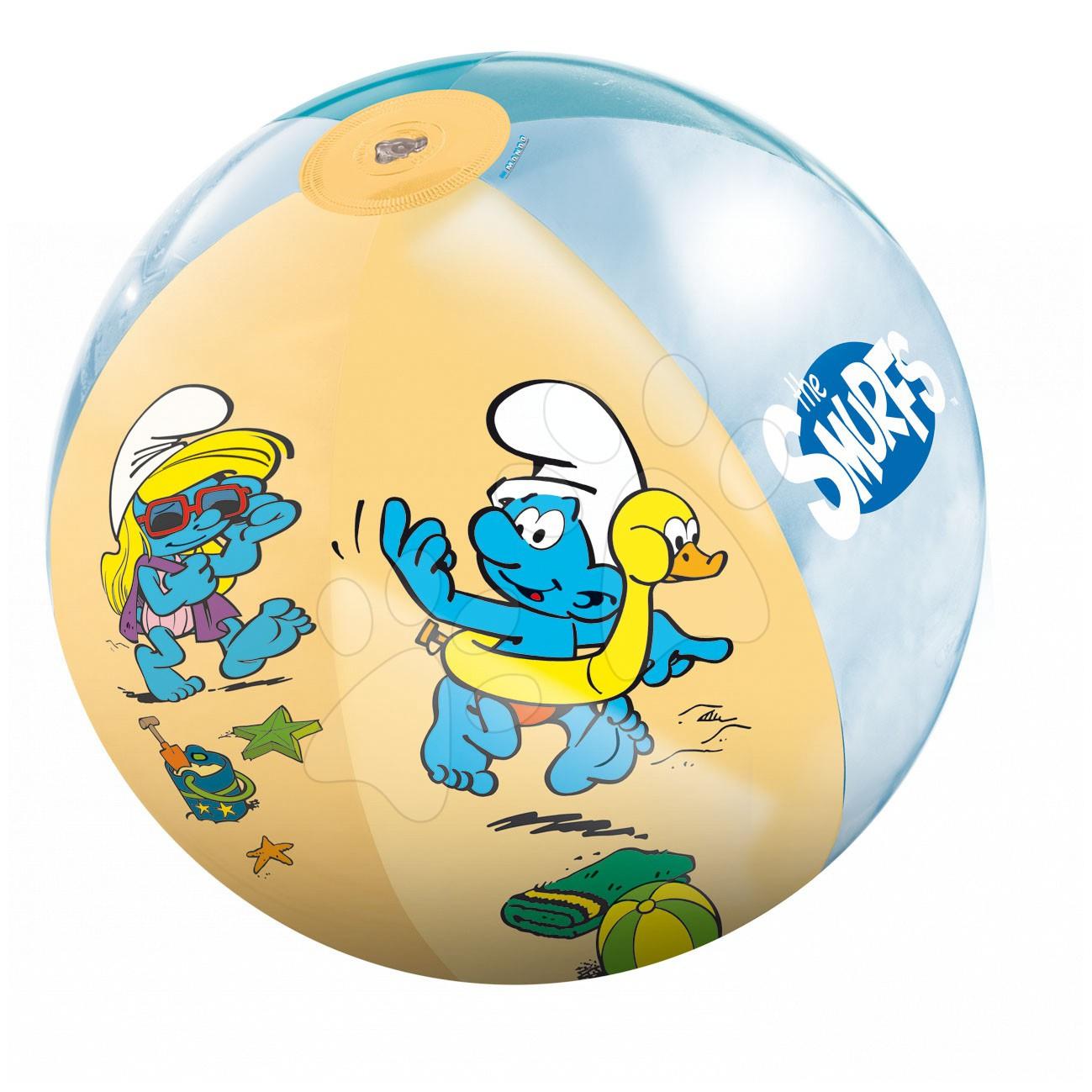 Nafukovacia lopta Šmolkovia Mondo 50 cm