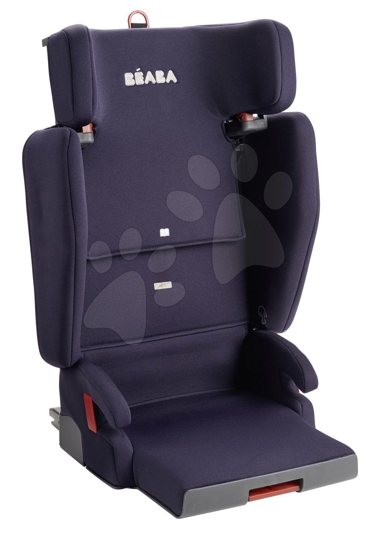 Autós gyerekülés Beaba PURSEAT'FIX csoport 2/3 kompakt és hordozható V1 Isofix matrózkék 15-36 kg