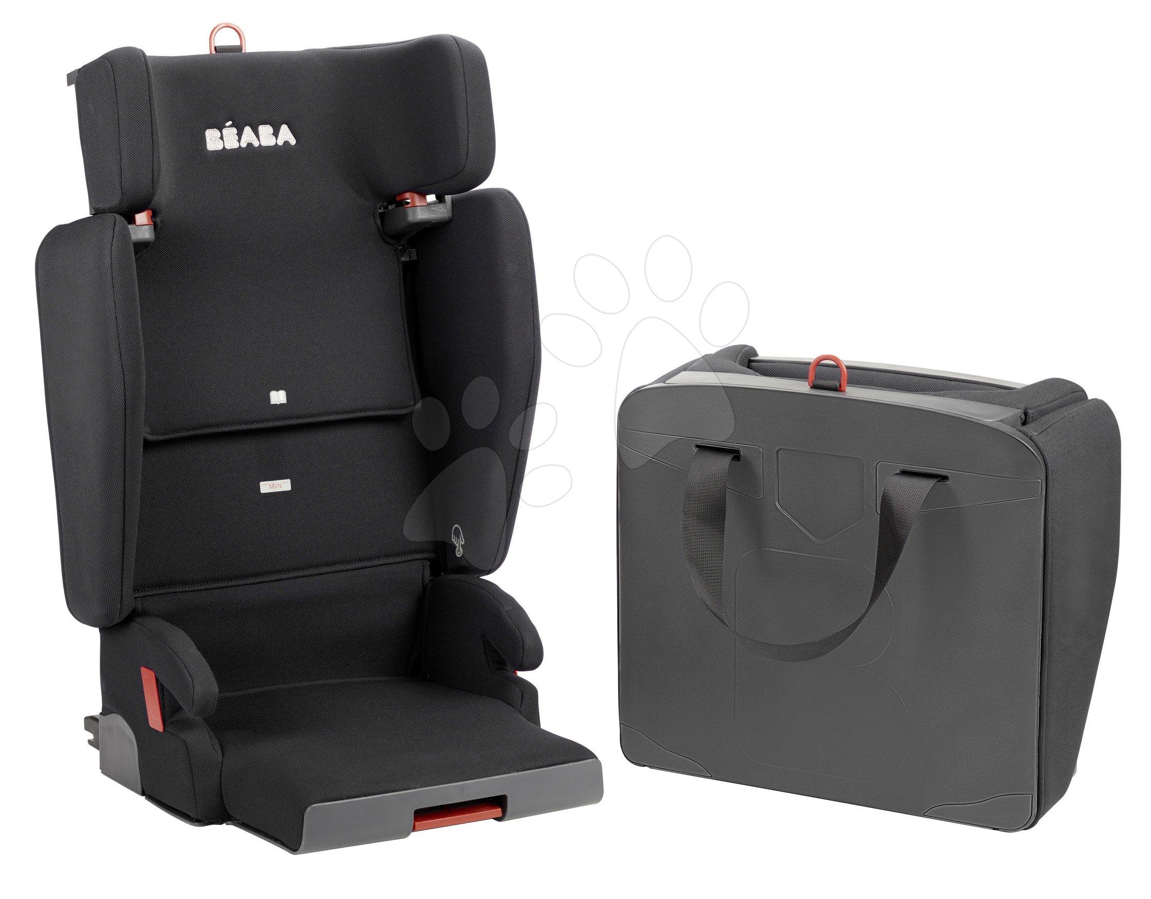 Autós gyerekülés Beaba PURSEAT'FIX csoport 2/3 kompakt és hordozható V1 Isofix fekete 15-36 kg