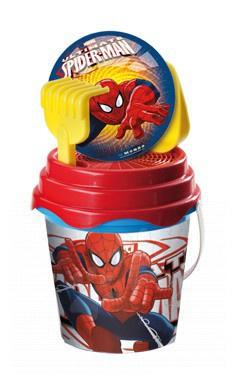 Kbelík set s míčem The Ultimate Spiderman Mondo 7 ks 19 cm