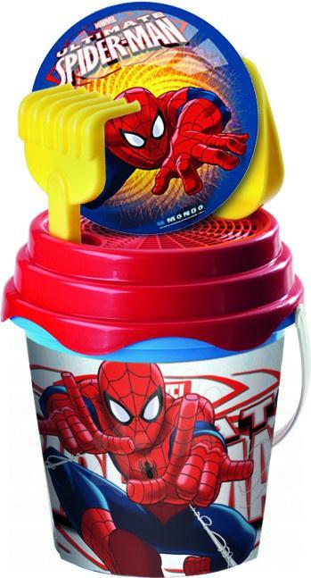 Staré položky - Vedro set Spiderman s loptou Mondo 19 cm