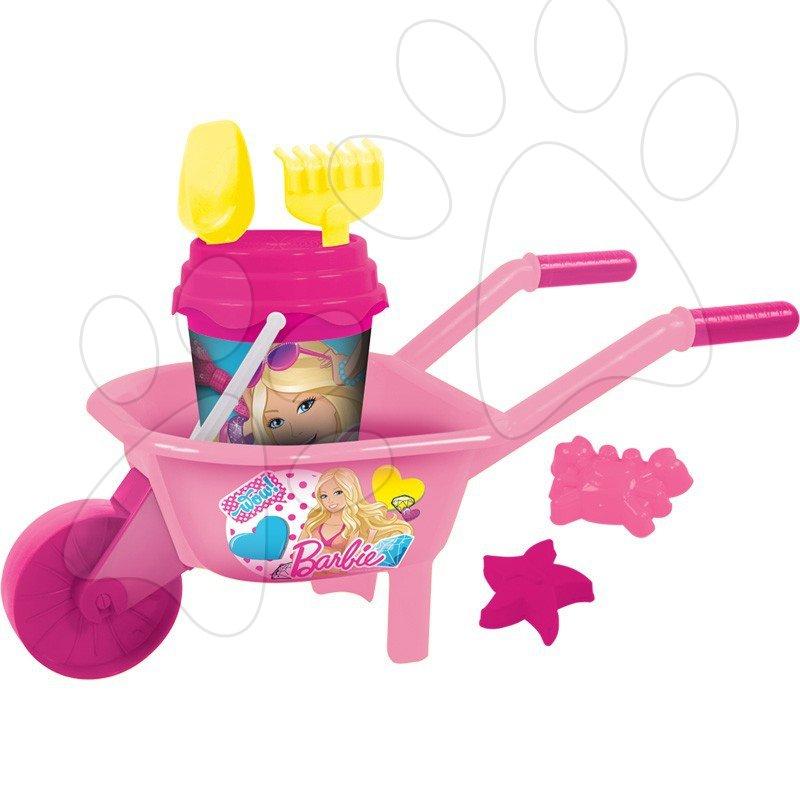 Kolečko s kbelík setem Barbie Mondo