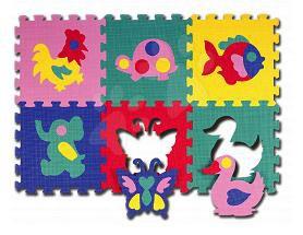 Produse vechi - Puzzle din burete Pop out - Animale Lee Chyun 6 bucăţi