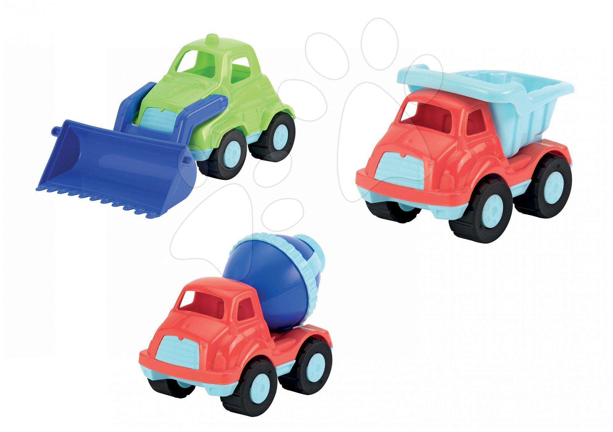 Auta do písku - Auto Écoiffier 3 kusy sklápěč, míchačka, nakladač délka 21 cm od 18 měsíců