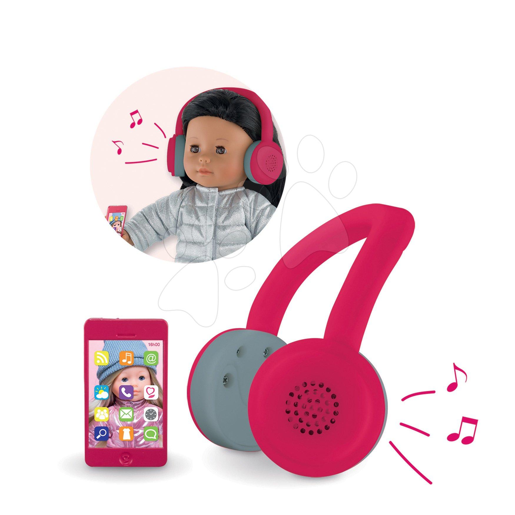 Sluchátka a mobil Headphone&Cell Phone Scooter Ma Corolle pre 36 cm bábiku od 4 rokov CODRN56