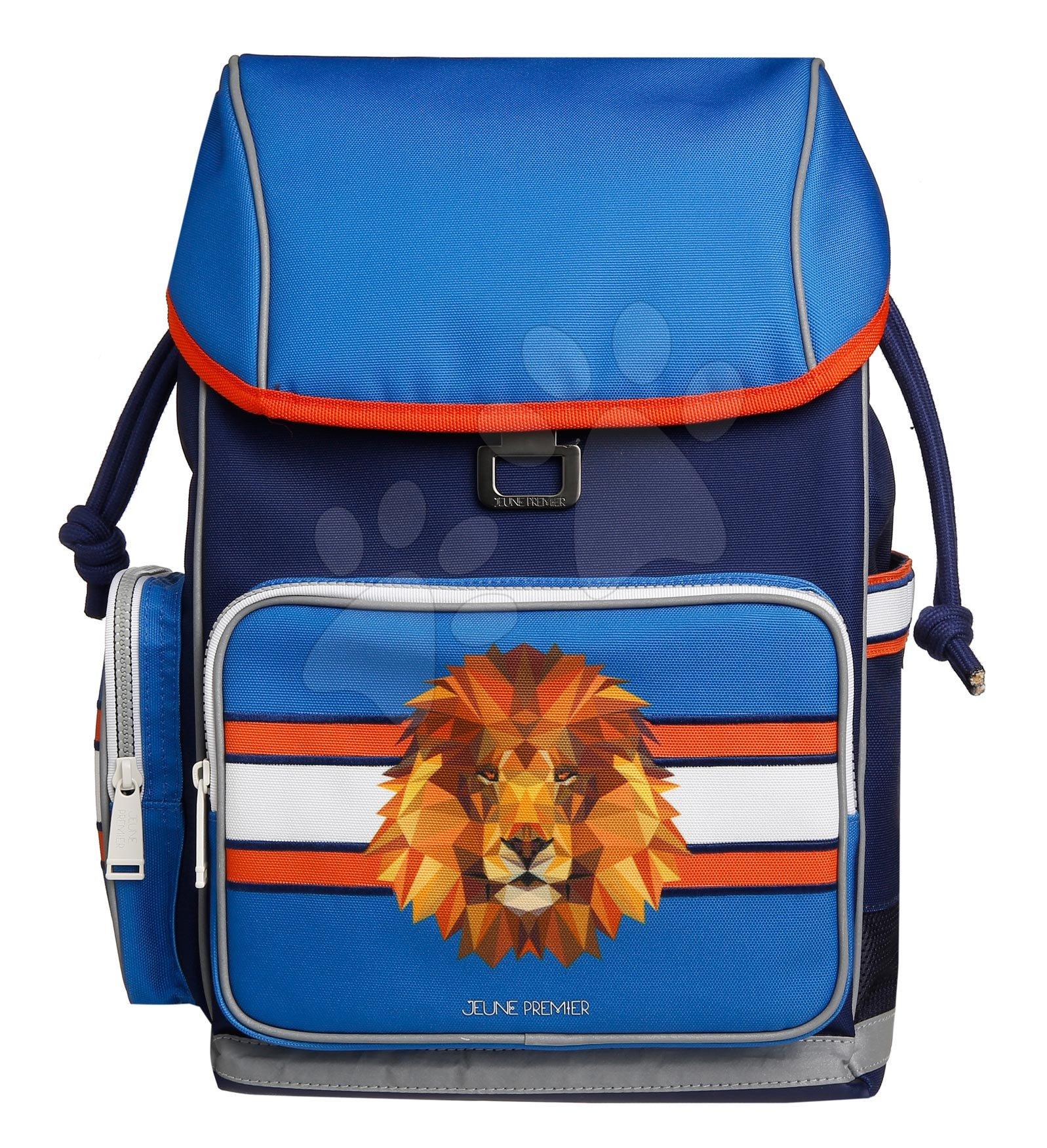 Školske torbe i ruksaci - Školski ruksak veliki Ergomax Lion Head Jeune Premier ergonomski luksuzni dizajn