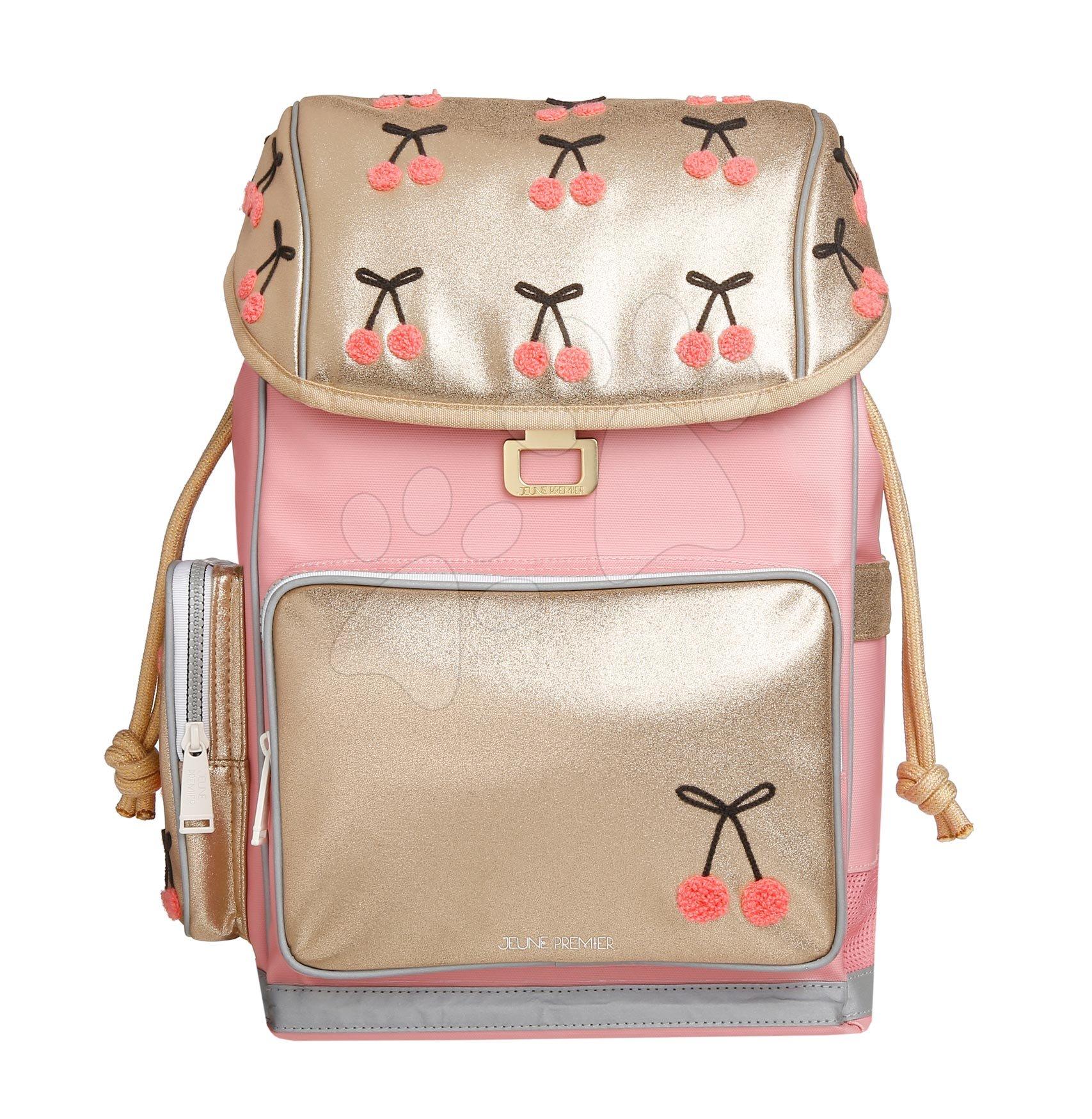 Školske torbe i ruksaci - Školski ruksak veliki Ergomaxx Cherry Pompon Jeune Premier ergonomski luksuzni dizajn 39*26 cm