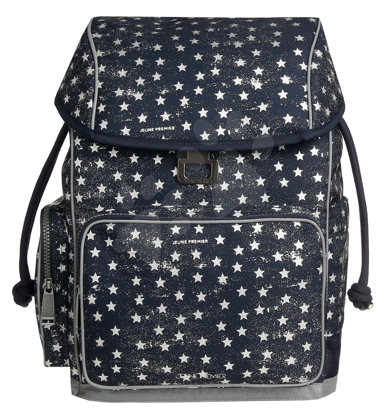 Školske torbe i ruksaci - Školski ruksak veliki Ergomax Stars Silver Jeune Premier ergonomski luksuzni dizajn