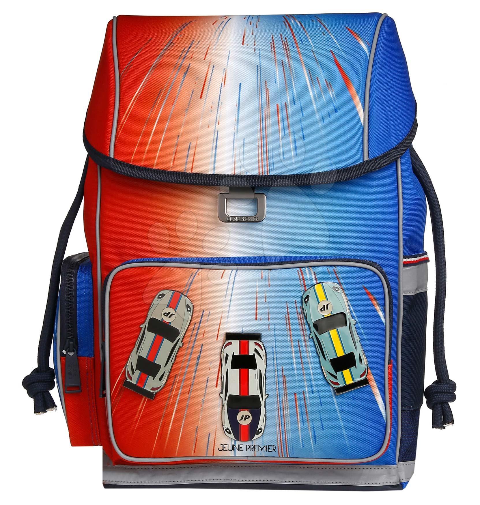Školske torbe i ruksaci - Školský batoh veľký Ergomaxx Racing Club Jeune Premier ergonomický luxusné prevedenie 39*26 cm JPERX21171