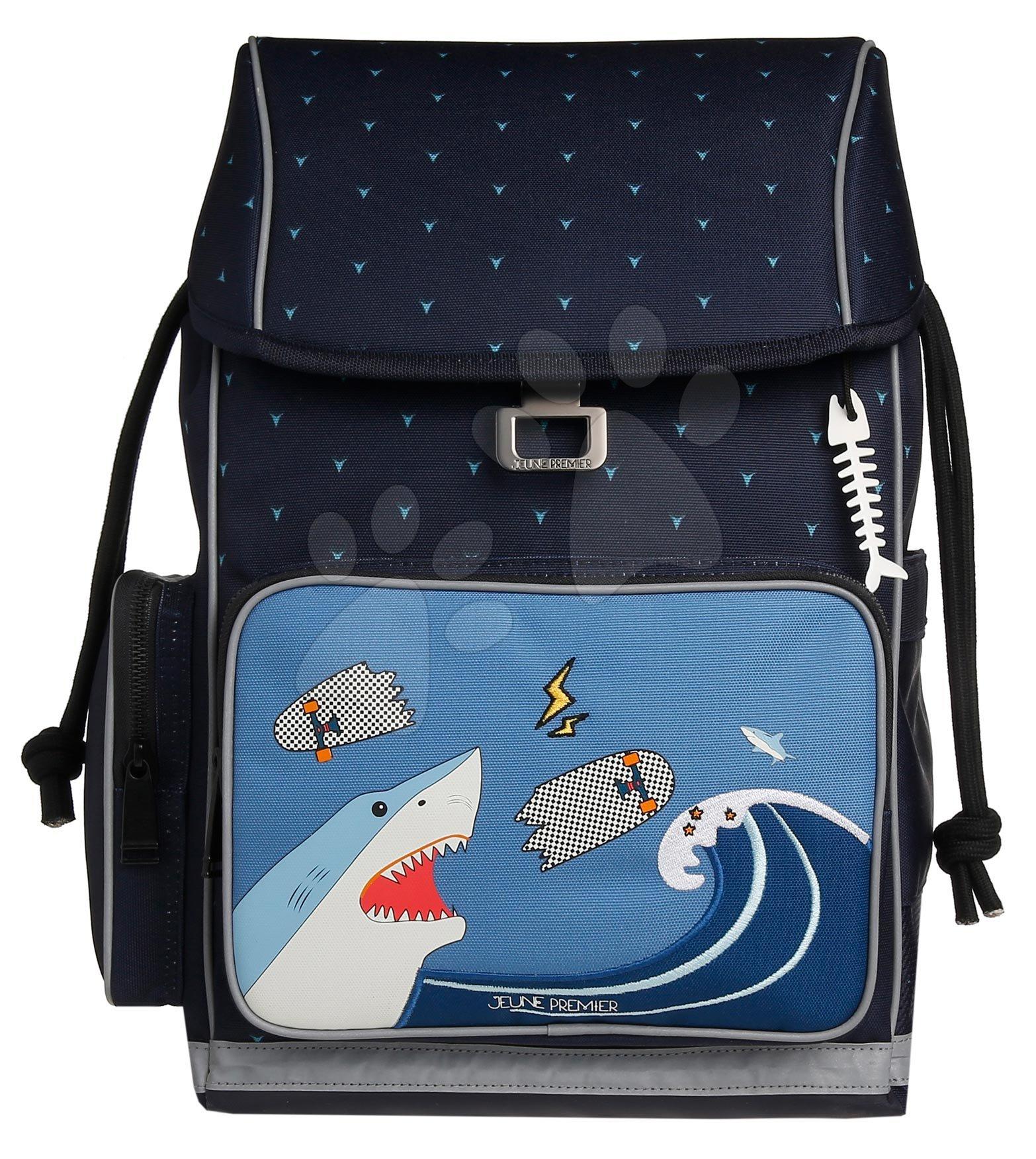 Školske torbe i ruksaci - Školský batoh veľký Ergomaxx Sharkie Jeune Premier ergonomický luxusné prevedenie 39*26 cm JPERX21174