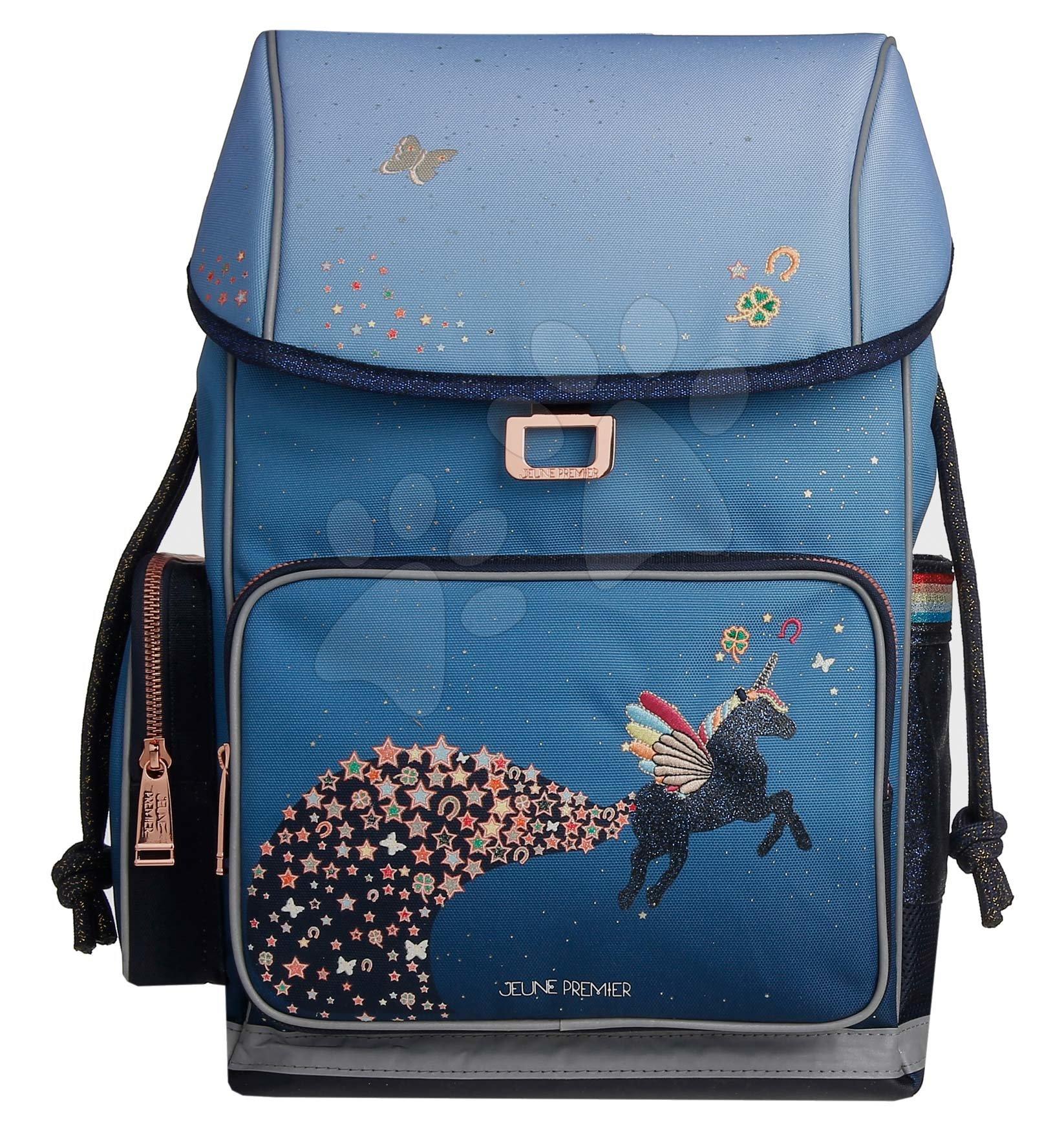 Školske torbe i ruksaci - Školský batoh veľký Ergomaxx Unicorn Universe Jeune Premier ergonomický luxusné prevedenie 39*26 cm JPERX21176
