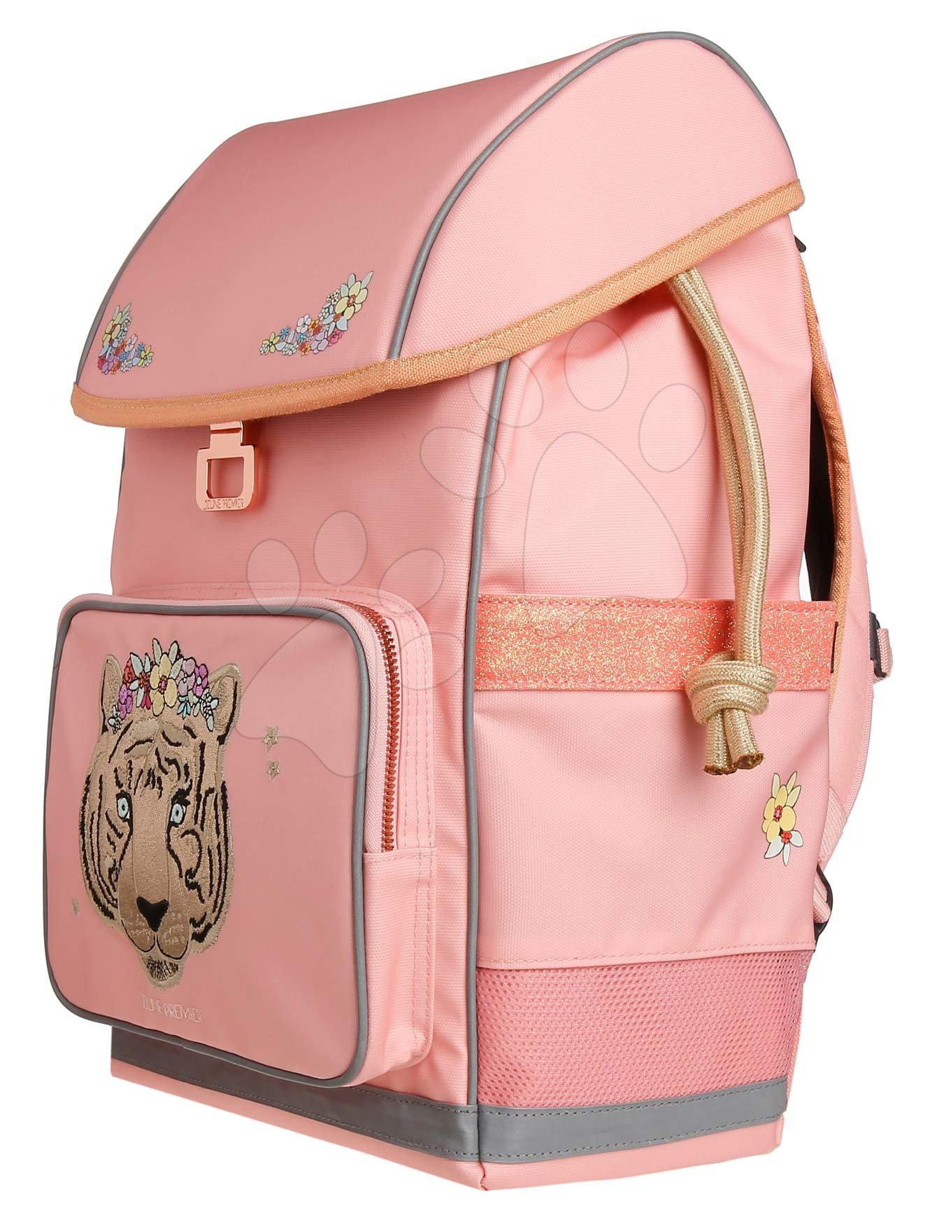 Školský batoh veľký Ergomaxx Tiara Tiger Jeune Premier ergonomický luxusné prevedenie 39*26 cm