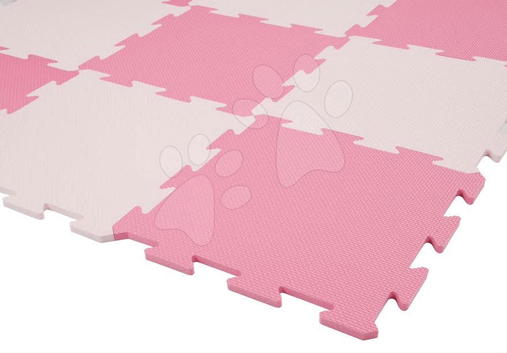Pěnové puzzle Lee podložka pro nejmenší 9 dílů 30*30*1,4 cm růžové od 0 měsíců