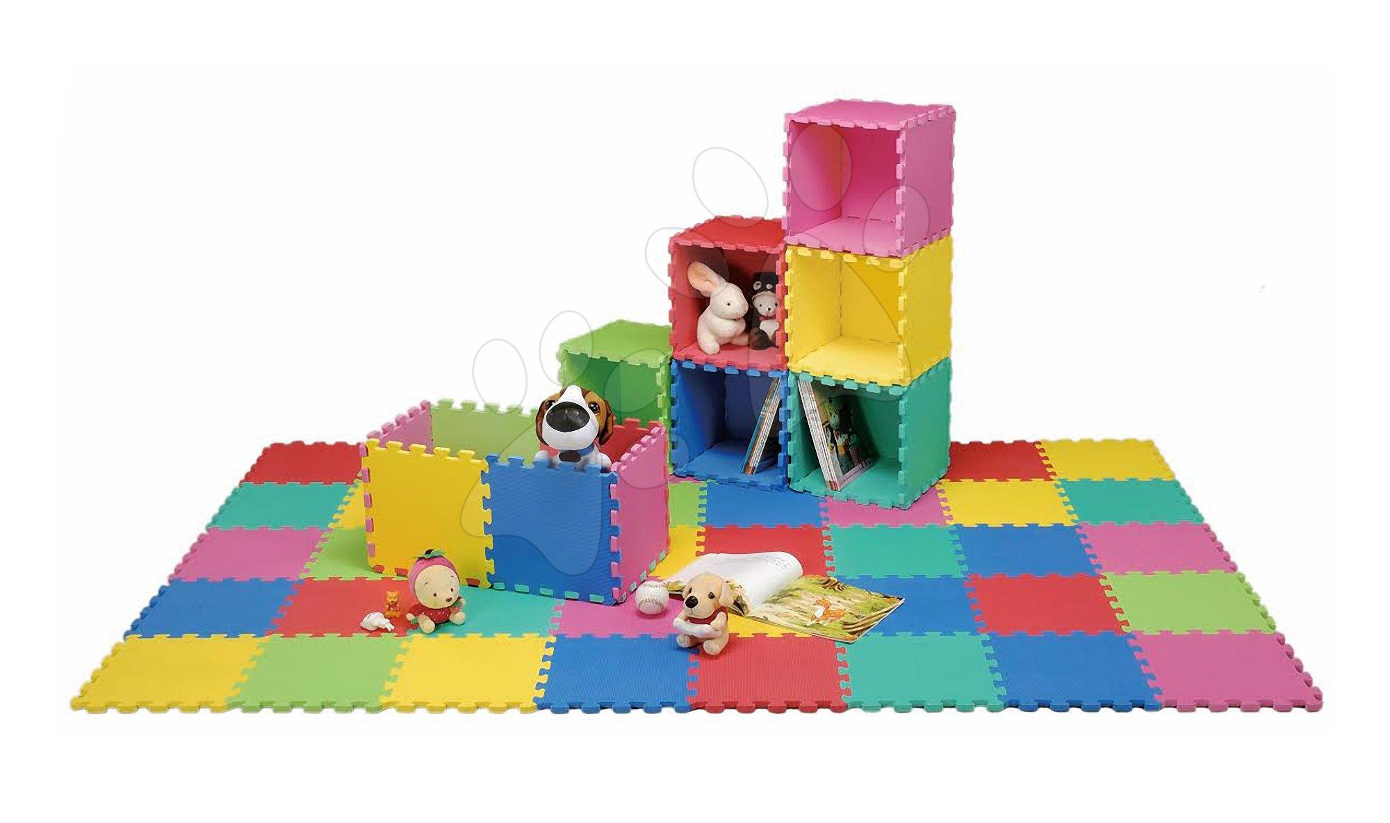 Podlahové puzzle pre bábätká - Penové puzzle Lee podložka pre najmenších 36 dielov 30*30*1,4 cm od 0 mes