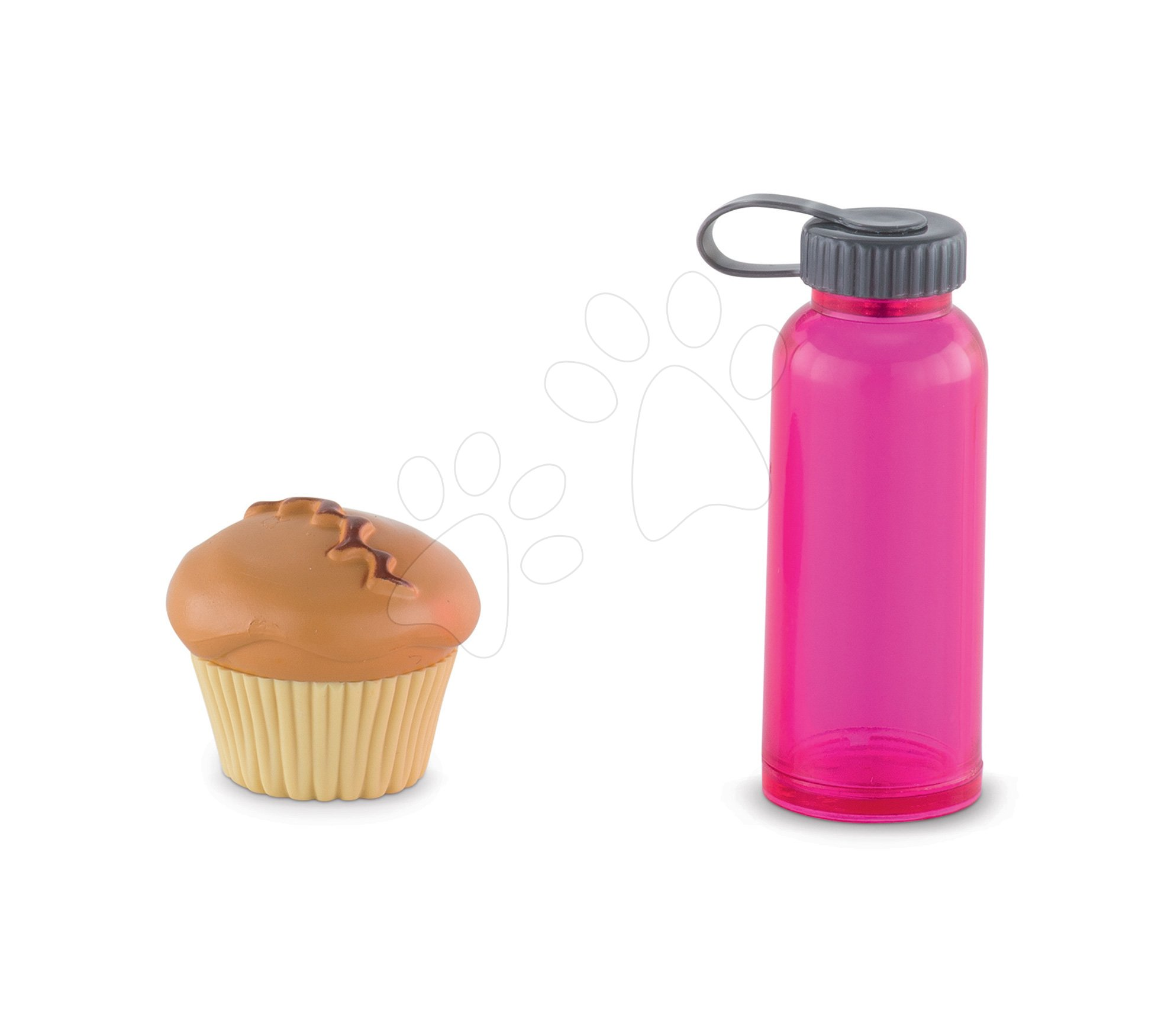 Fľaška na vodu so šiškou Water Bottle&Muffin Ma Corolle pre 36 cm bábiku od 4 rokov COFPL06