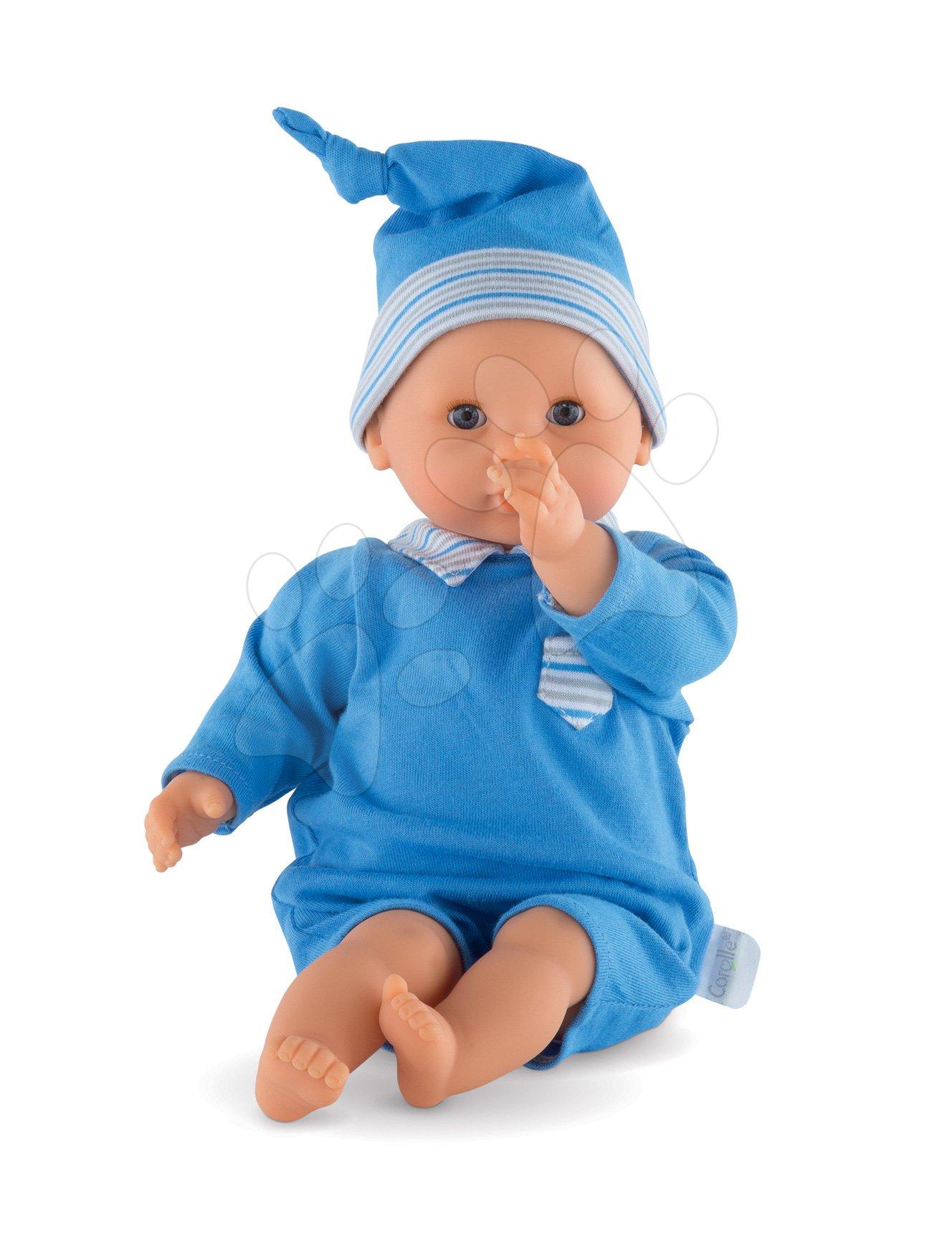 Bábika Bébé Calin Maël Corolle s modrými klipkajúcimi očami a fazuľkami 30 cm od 18 mes
