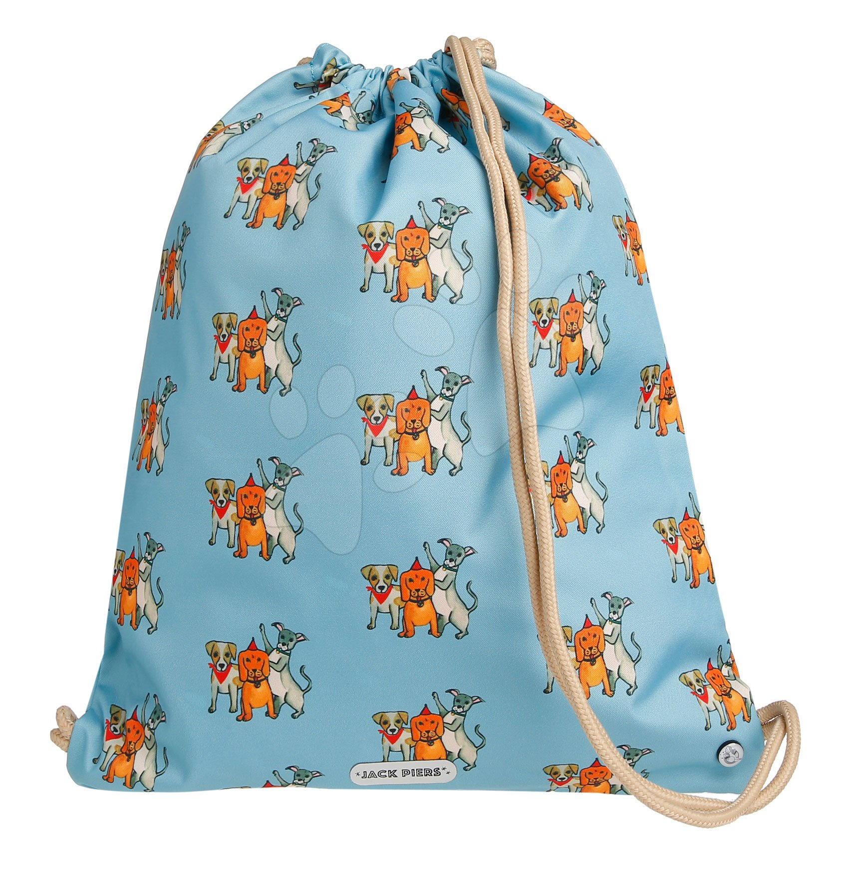Školský vak na telocvik a prezúvky Gym Bag Party Dogs Jack Piers ergonomický luxusné prevedenie od 2 rokov 36*44*10 cm