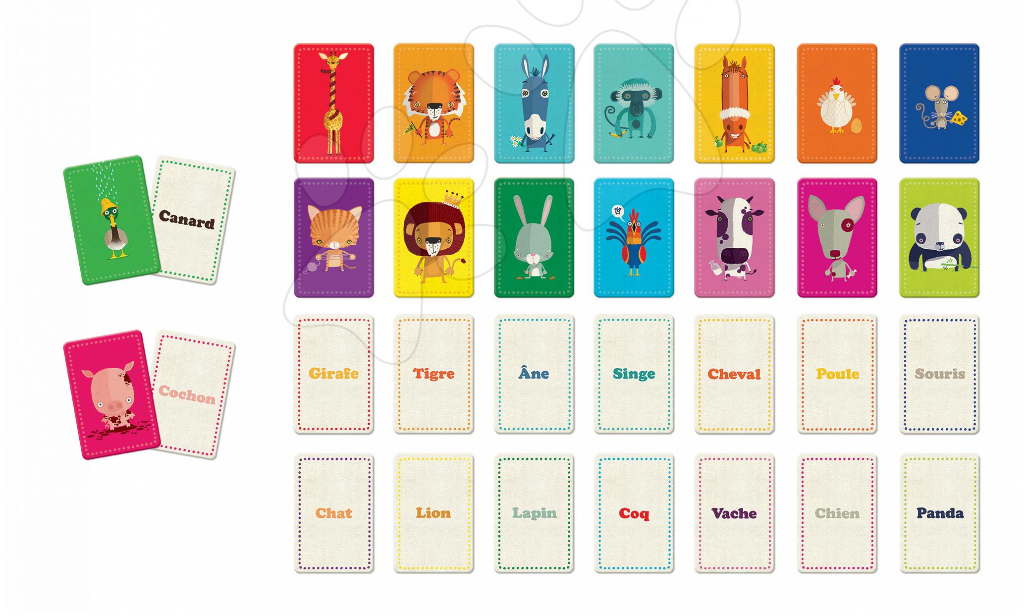Společenská hra Memo des Mots Janod v angličtině od 5 let