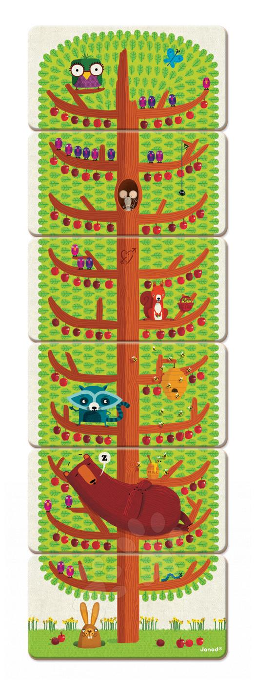 Společenská hra Happy Tree Janod paměťová 30 karet od 4 let