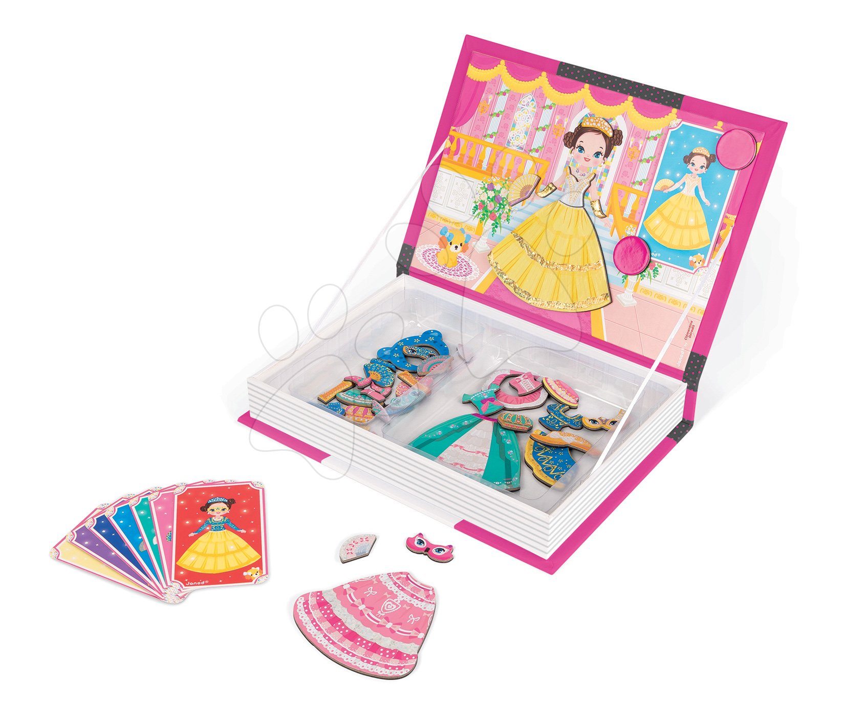 Magnetky pre deti - Magnetická kniha Princezné Magnetis'Book Janod 8 kariet