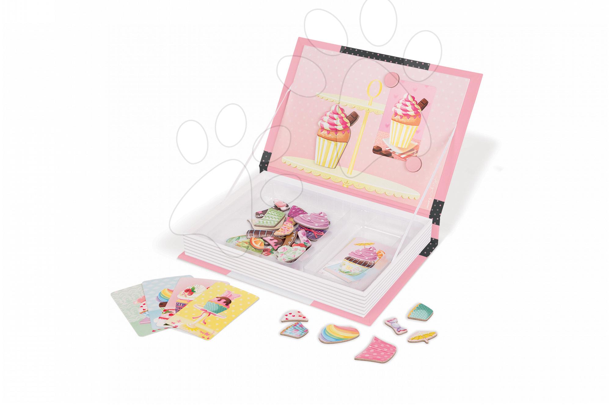 Magnetická kniha Magneti'Book Cupcakes Janod a 10 karet