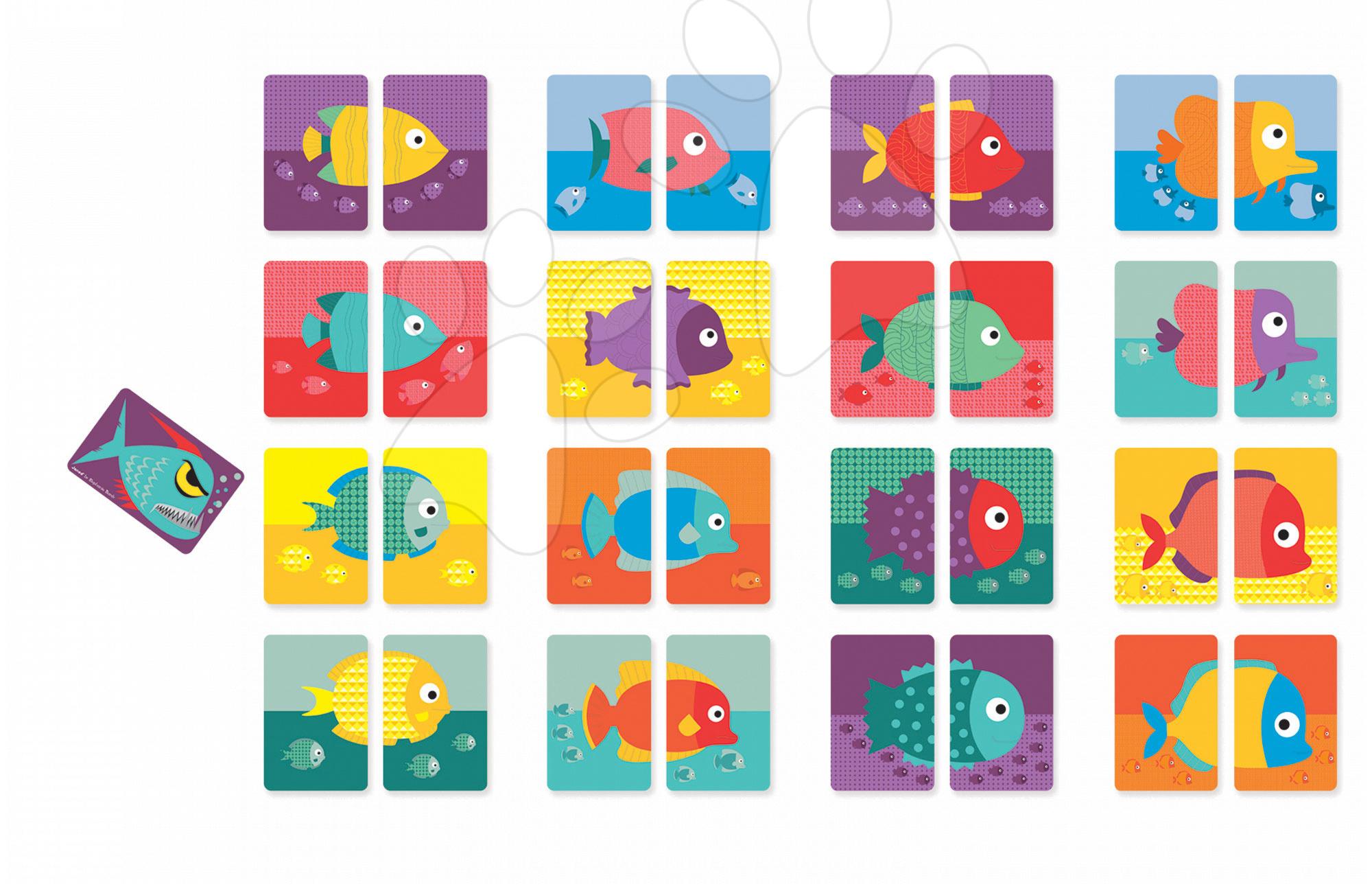 Cudzojazyčné spoločenské hry - Spoločenská hra pre najmenších Hot Piranha Janod od 4 rokov