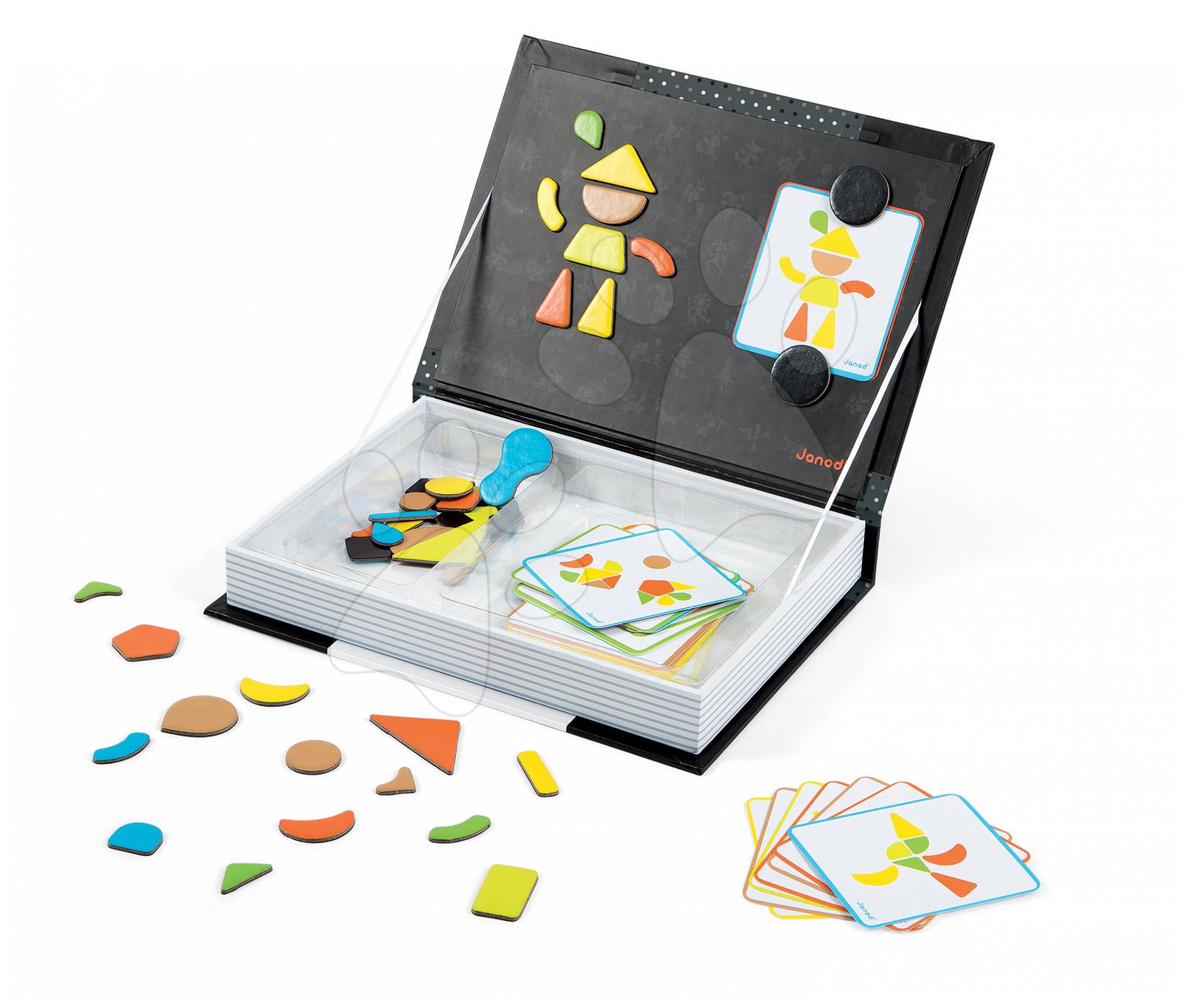 Magnetky pre deti - Magnetická kniha Moduloform Magneti'Book Janod 30 kariet