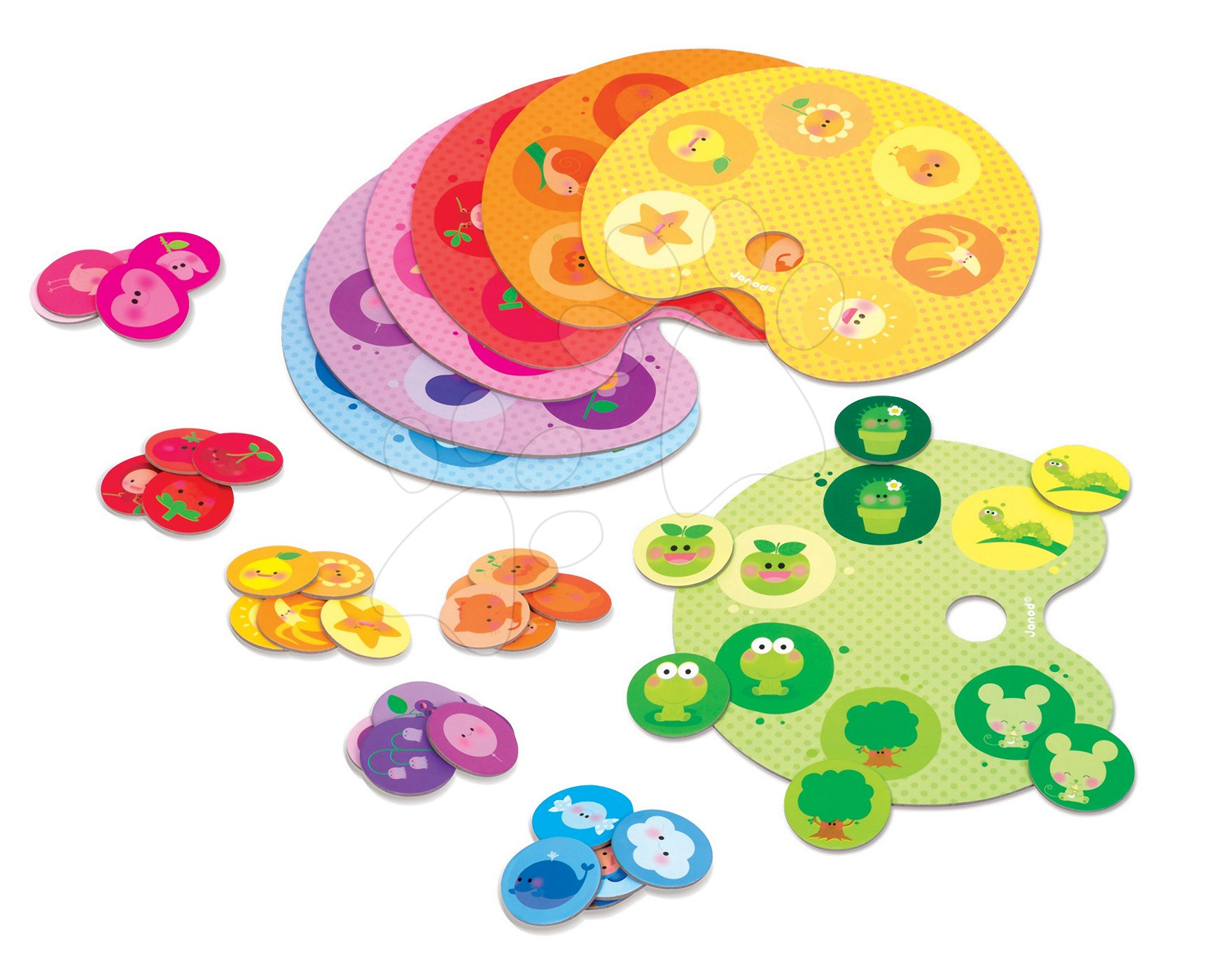 Cudzojazyčné spoločenské hry - Spoločenská hra Bingo Color Janod od 3 rokov