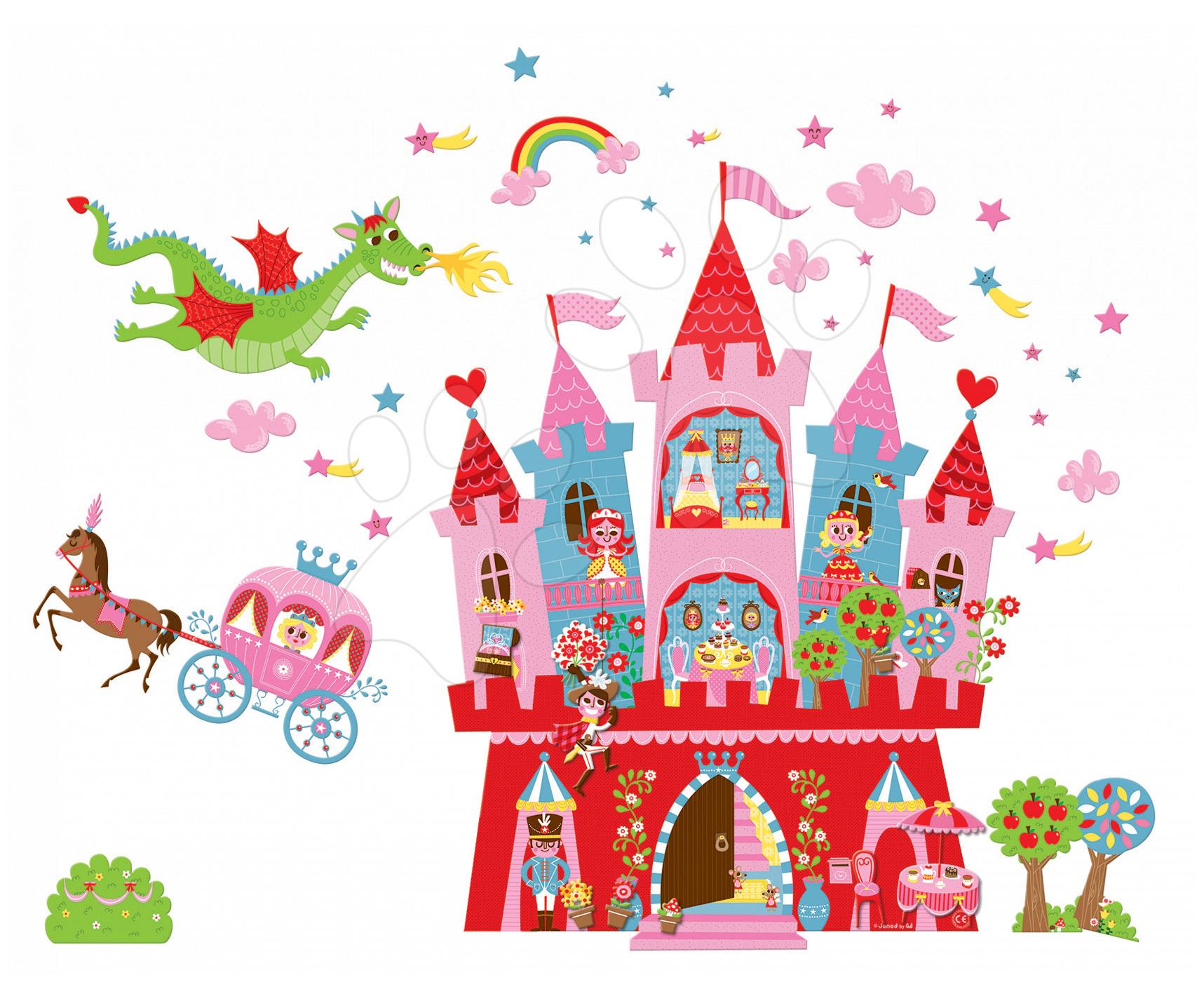 Magnetky pre deti - Magnetická dekorácia do detskej izby Princess Magneti' Stick Janod od 3 rokov