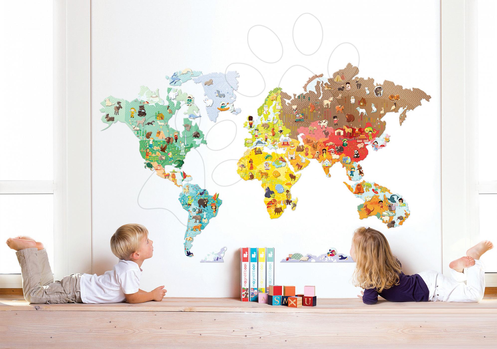 Magnetická dekorácia do detskej izby World Magneti' Stick Janod od 7 rokov