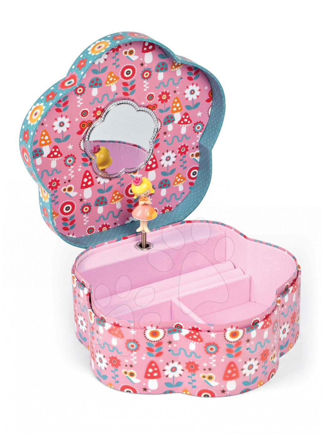 Hudební šperkovnice pro děti Jewellery Flower Musical Box - Annuschka Janod