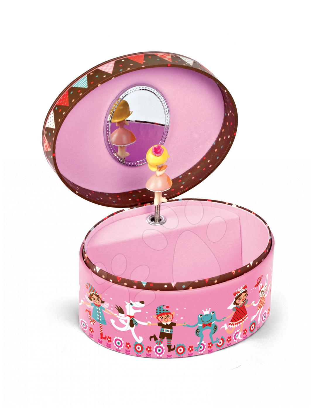 Kozmetický stolík pre deti - Hudobná šperkovnica Jewellery Oval Musical Box - Petruschka Janod