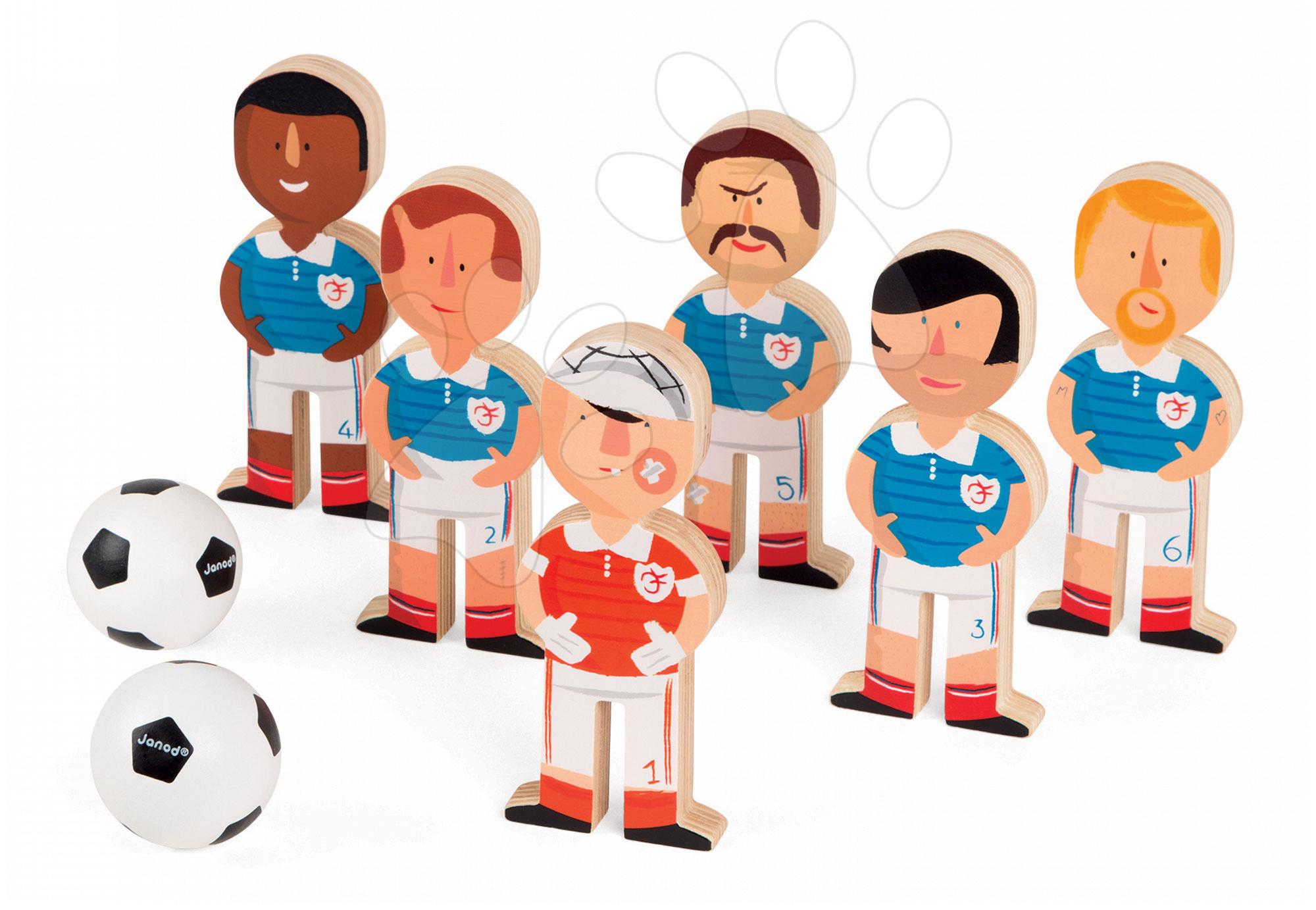 Kolky - Drevené kolky Champions Soccer Skittles Janod s futbalistami