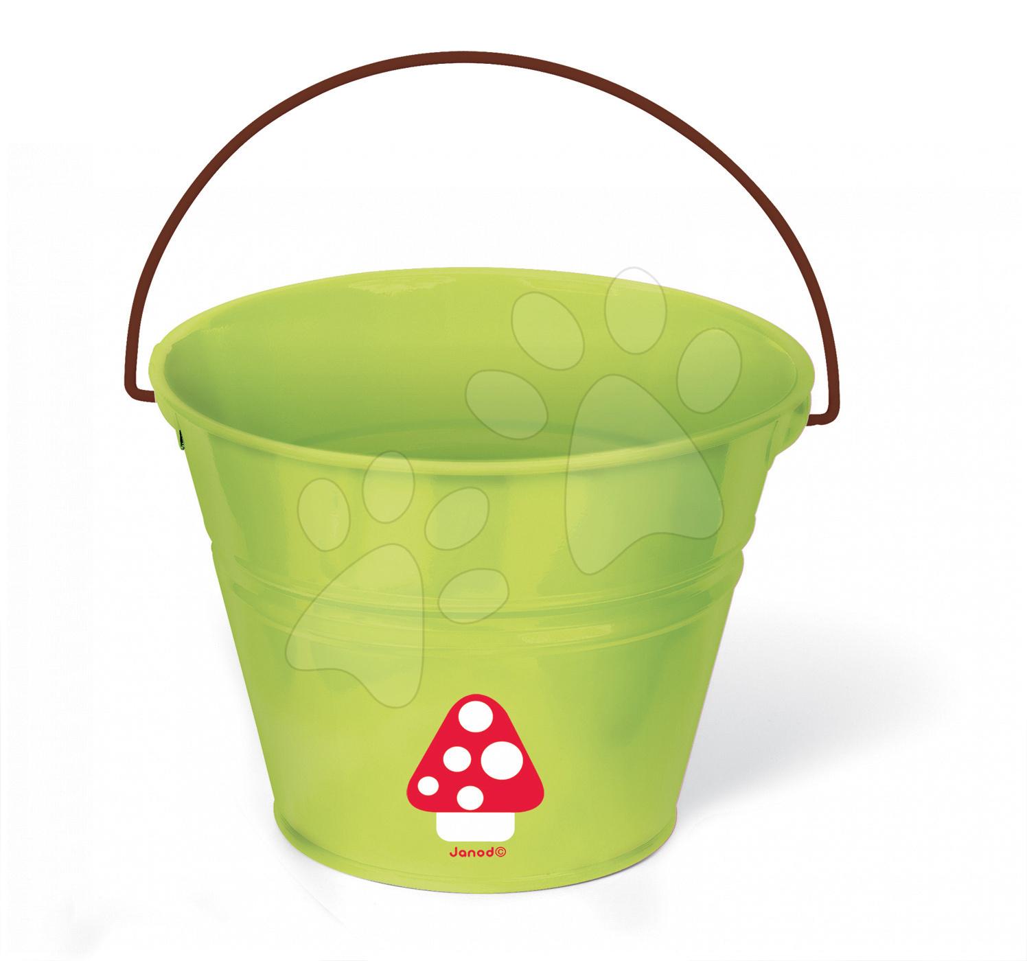 Plechový kbelík Natur' Janod zelený