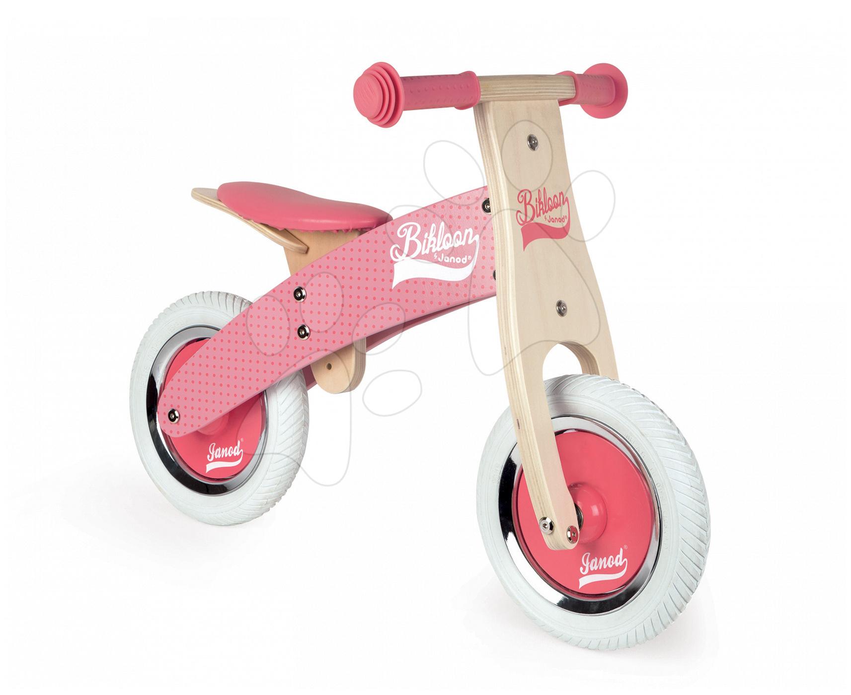Dřevěné odrážedlo My First Pink Little Bikloon Janod růžové od 24 měsíců