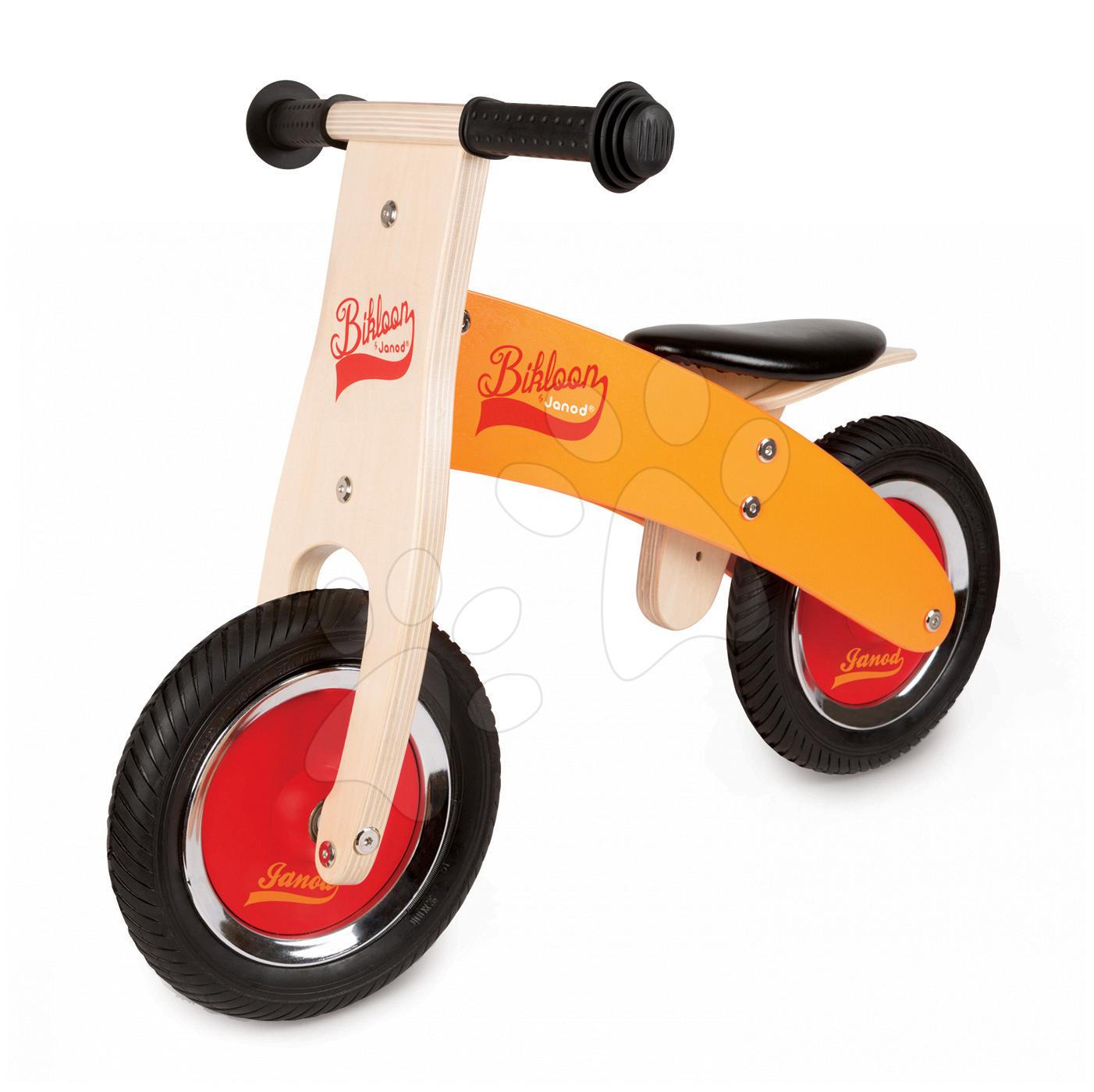 Drevené odrážadlá - Drevený balančný bicykel Little Bikloon Janod od 24 mes