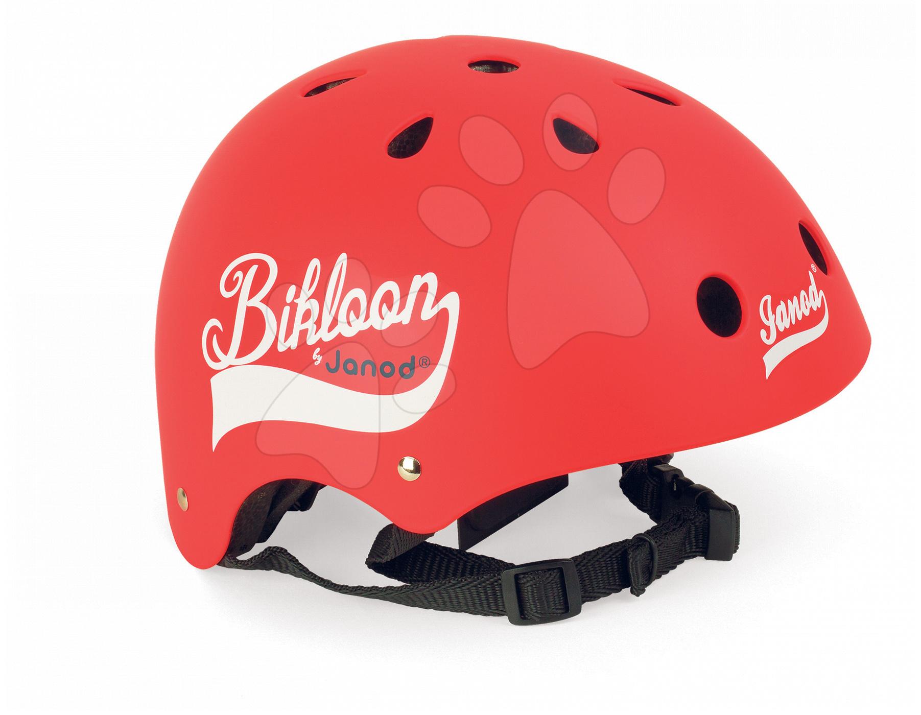 Cyklistická přilba Bikloon Red Janod s ventilací velikost 47-54 červená