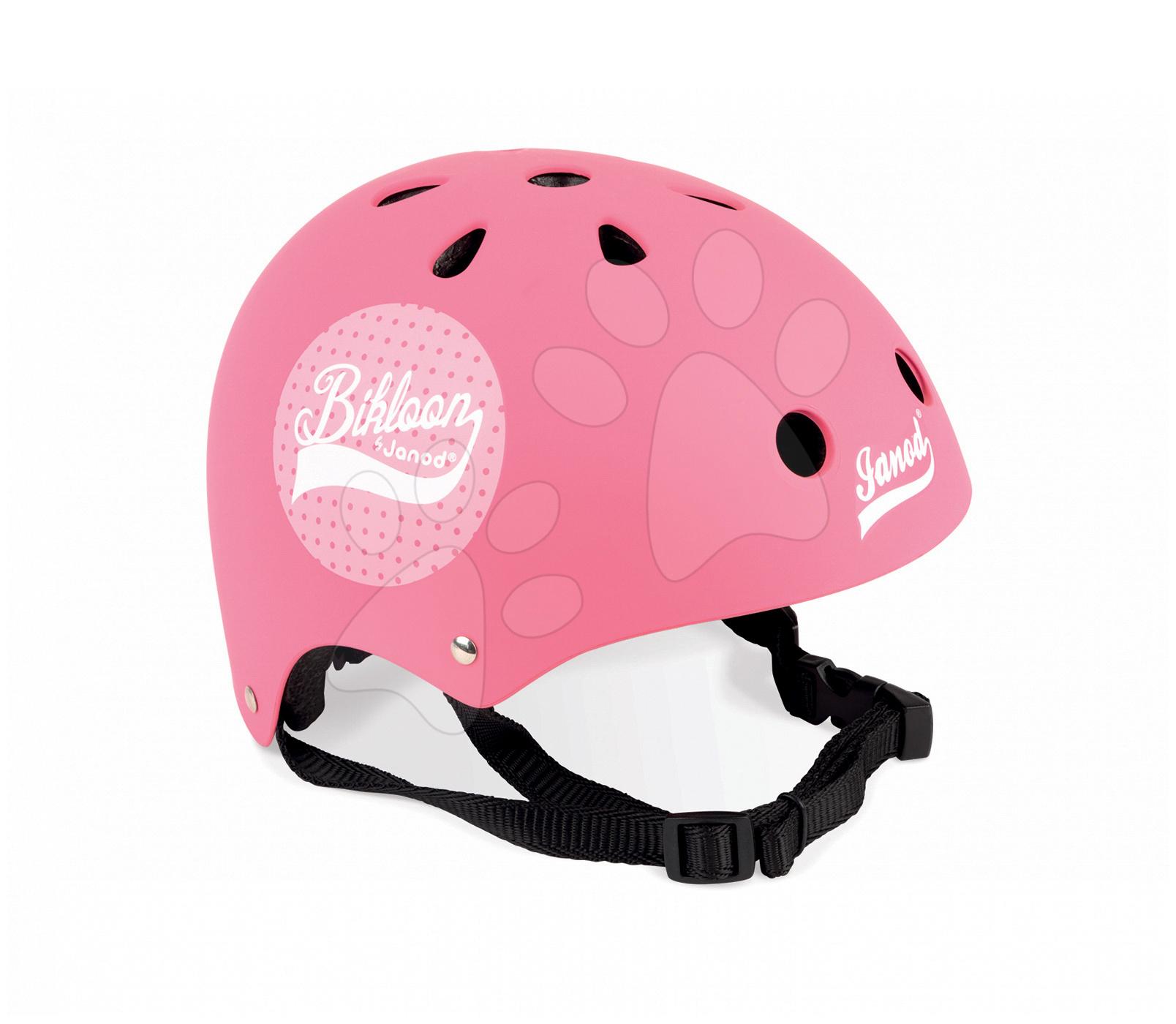 Přilba k odrážedlu Bikloon Pink Janod s ventilací velikost 47-54 cm růžová od 3 let